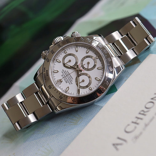 Stainless Steel Rolex Oyster Perpetual Daytona Complete With Papers Dated 2005