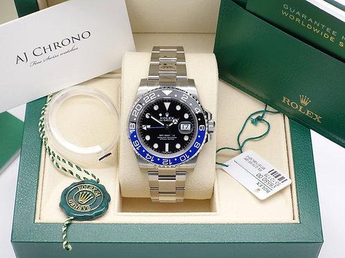 Unworn Factory Sealed Stainless Steel Rolex GMT-Master II 116710BLNR Batman 2017