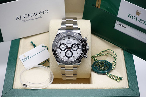 Gents Stainless Steel Rolex Oyster Perpetual Cosmograph Daytona 116500LN White