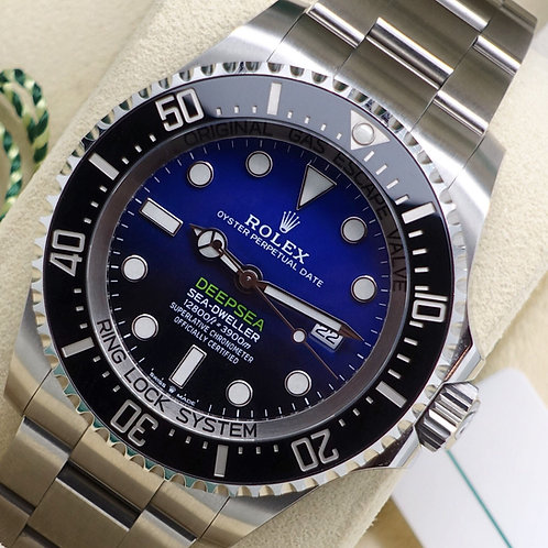 Gents Stainless Steel Rolex James Cameron Deepsea D-Blue Dial 2018 Box & Papers