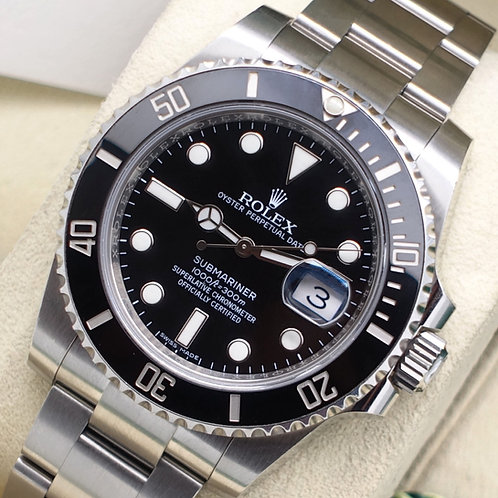 Gents Stainless Steel Rolex Oyster Perpetual Submariner Date 116610LN B + P