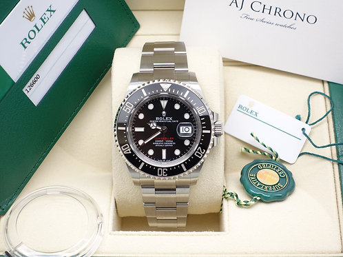 Unworn 2019 Anniversary Stainless Steel Rolex Sea-Dweller 43 126600