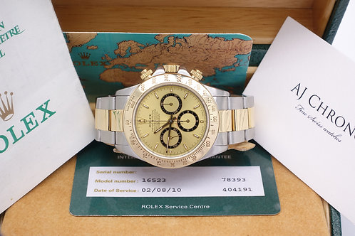 Gents Steel & 18ct Gold Rolex Daytona 16523 Zenith El Pimero Movement U Serial