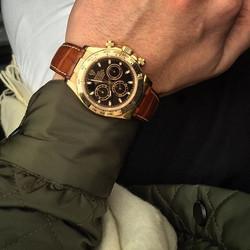 18ct Gold Rolex Daytona 116518 Black