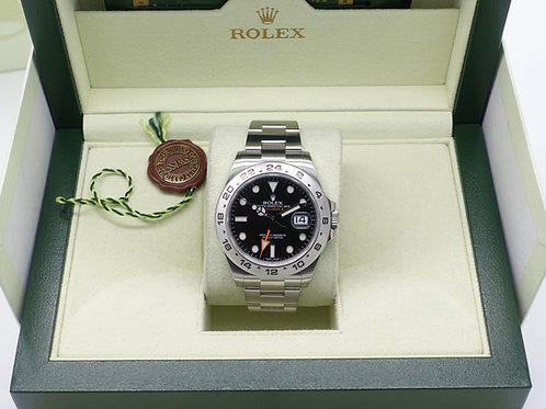 Gents Stainless Steel Rolex Explorer II 216570 With Box & Papers 2011