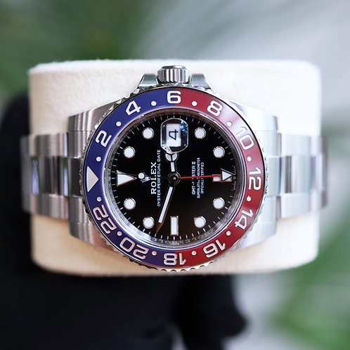 Unworn 2021 Pepsi Rolex Oyster Perpetual GMT-Master II 126710BLRO Box & Papers