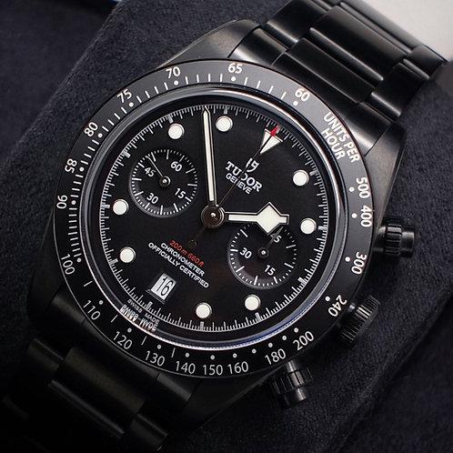 Rare Unworn 2019 Tudor Black Bay Chronograph Dark Model 79360DK