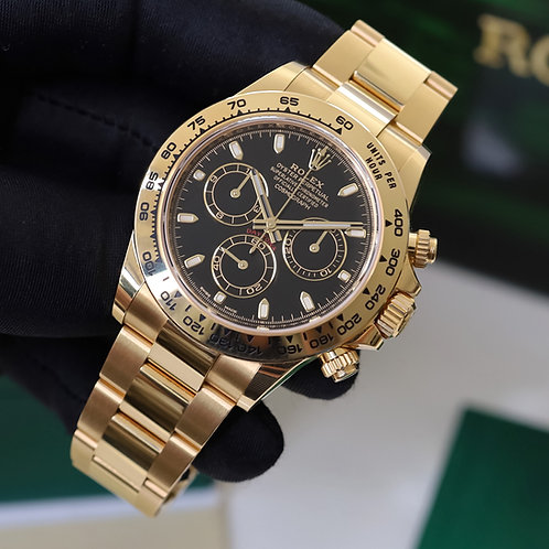18ct Yellow Gold Rolex Cosmograph Daytona with Box & Papers Dated 2019