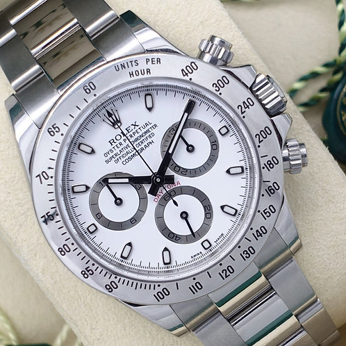 Full collectors Set 2015 Unpolished 'APH' Dial Stainless Steel Rolex Daytona
