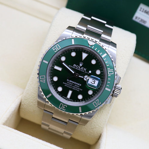 Gents Stainless Steel Rolex Oyster Perpetual 'Hulk' Submariner 2017
