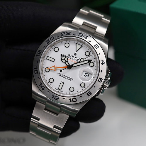 Unworn 2020 Gents Stainless Steel Rolex Oyster Perpetual Explorer II 216570