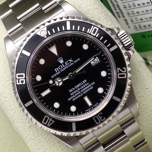 Gents Stainless Steel Rolex Oyster Perpetual Sea-Dweller 16600 Complete B&P