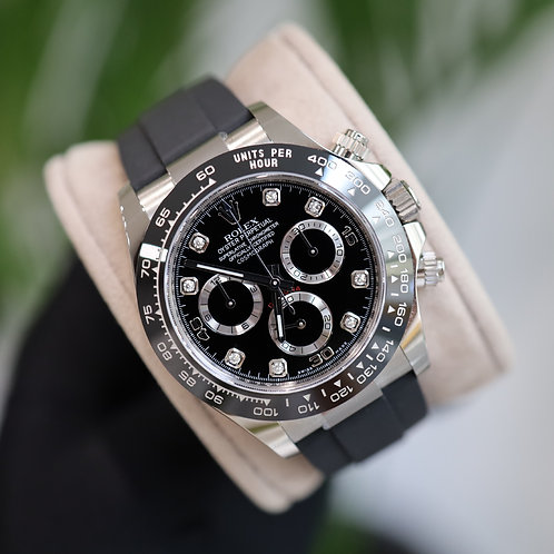 Unworn 18ct White Gold Oysterflex Daytona Complete With Box & Papers
