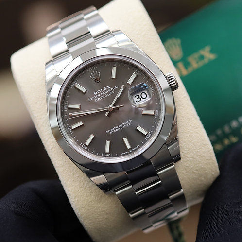 Gents Stainless Steel Rolex Oyster Perpetual Datejust 41 Rhodium