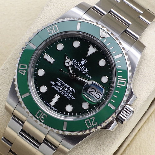 Gents Stainless Steel Rolex Oyster Perpetual Submariner Date Hulk 116610LV 2013