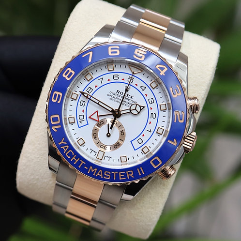 Unworn Steel & Rose Gold Rolex Yacht-Master II Complete with Box & Papers 2019