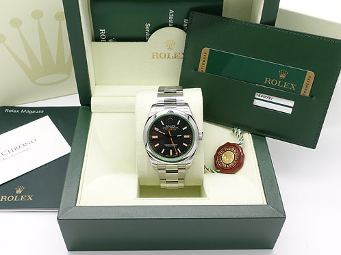 Gents Stainless Steel Rolex Milgauss 116400GV Complete With Box & Papers 2010