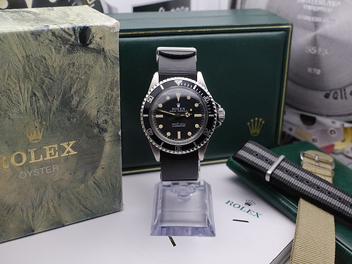 Vintage Gents Stainless Steel Rolex Oyster Perpetual Submariner Non Date 5513
