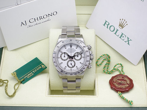 NOS Factory Sealed Rolex Oyster Perpetual Cosmograph Daytona 116520 With B & P