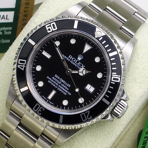 Final Production Year Rolex Sea-Dweller 16600 Complete With Box & Papers 2009