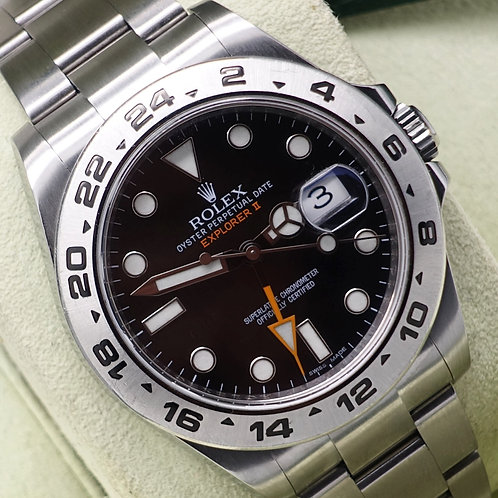 Gents Stainless Steel Rolex Explorer II 216570 Complete With Box & Papers 2014