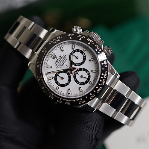 Unworn 2019 Stainless Steel Rolex Oyster Perpetual Daytona White Dial 116500LN
