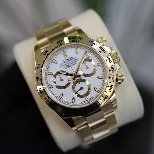 Gents 18ct Yellow Gold Rolex Cosmograph Daytona with Box & Papers Dated 2021