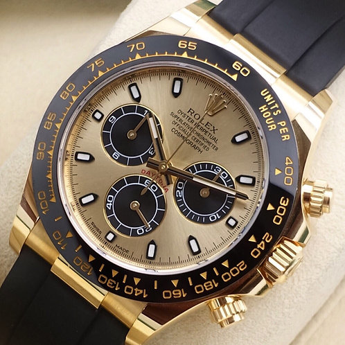 Gents 18ct Yellow Gold Oysterflex Daytona Complete With Box & Papers 2017