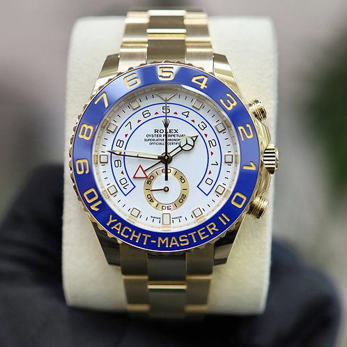 Rolex Yacht Master II 116688 44mm Yellow Gold 2020 White Dial With Papers Unworn