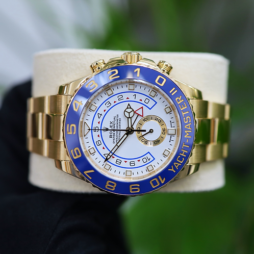 Gents 18ct Yellow Gold Rolex Yacht-Master II Box & Papers 2019 116688