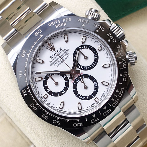 2019 Stainless Steel Rolex Oyster Perpetual Daytona White Dial 116500LN