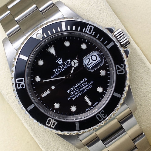 Gents Stainless Steel Rolex Oyster Perpetual Submariner Date 16610 SEL
