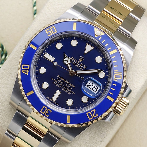 Gents Steel & 18ct Gold Rolex Oyster Perpetual Blue Kit Submariner 116613LB