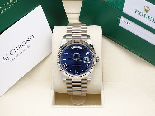 2019 Navy 18ct White Gold Rolex Oyster Perpetual Rolex Day-Date 40 228238