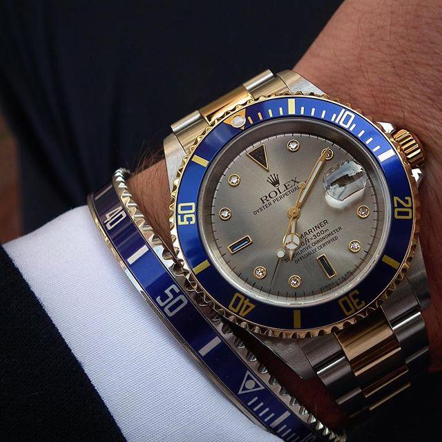Rolex Submariner Serti Dial 16613