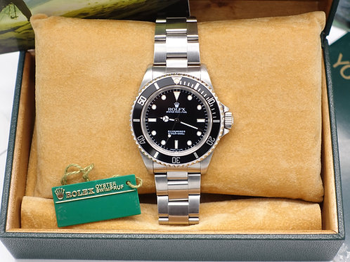 Gents Stainless Steel Rolex Oyster Perpetual Submariner Non-Date 14060 With Box