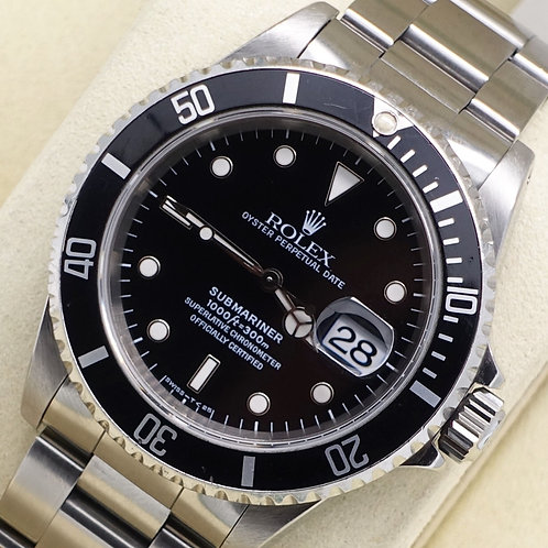 Gents Stainless Steel Rolex Oyster Perpetual Submariner Date 16610 T Serial 1995