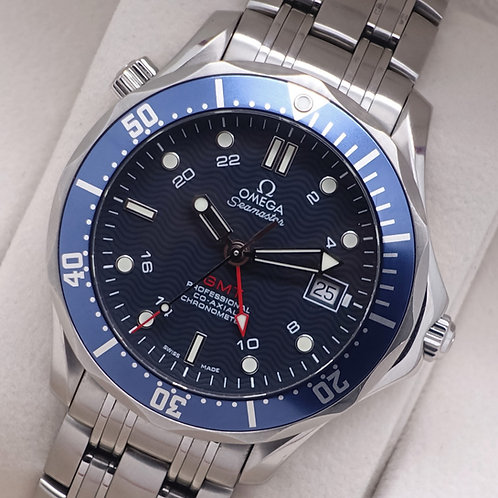 Gents Stainless Steel Omega SeaMaster GMT 300m 2535.80.00 Exhibition Caseback