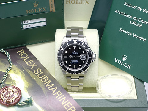 Gents stainless steel Rolex Oyster Perpetual Submariner Date 16610