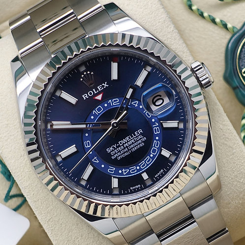 Gents 2017 Stainless Steel Rolex Oyster Perpetual Sky-Dweller With Blue Dial