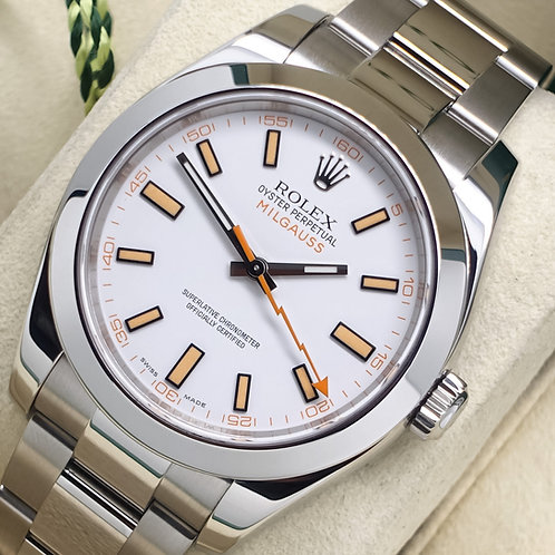 Gents Stainless Steel Rolex Milgauss Complete With Box & Papers 116400