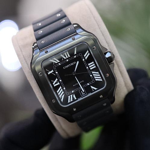 Cartier Santos Black ADLC WSSA0039 UK Watch Unworn 2020 Stainless Steel Complete