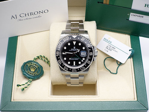 Gents Stainless Steel Rolex GMT-Master II Complete With Box & Papers 116710LN