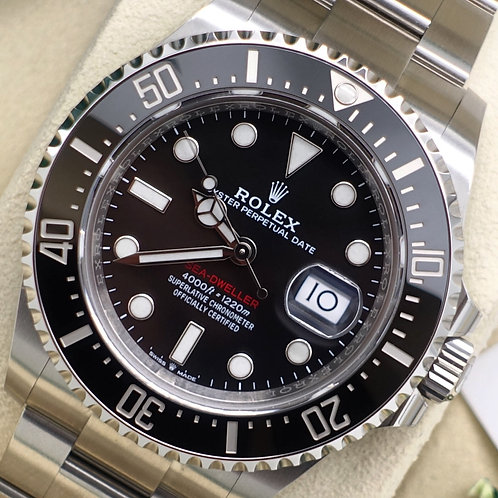 Gents Stainless Steel Anniversary Rolex Sea-Dweller 43 MK1 Complete With B & P