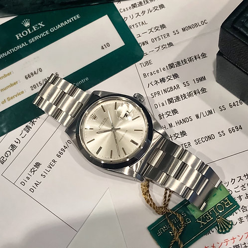 Collectors Grade Stainless Steel Rolex Oysterdate 6694 With Service Papers