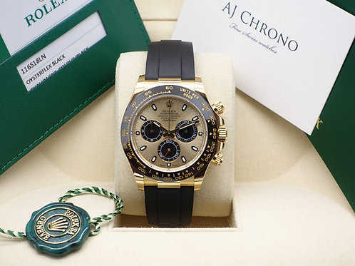 Gents 18ct Yellow Gold Oysterflex Daytona Complete With Box & Papers 2019