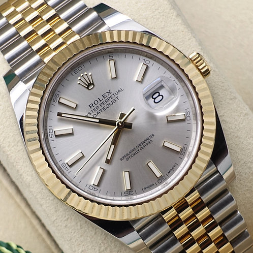 Gents Steel & 18ct Gold Rolex Oyster Perpetual Datejust 41 Complete 2019 Set