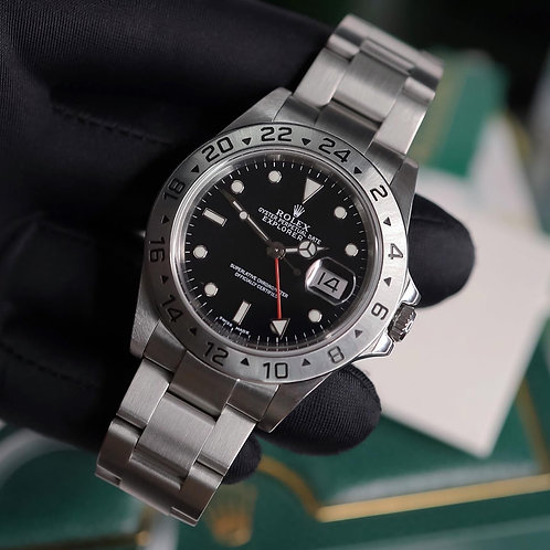 Stunning Gents Stainless Steel Rolex Oyster Perpetual Explorer II 16570 Black