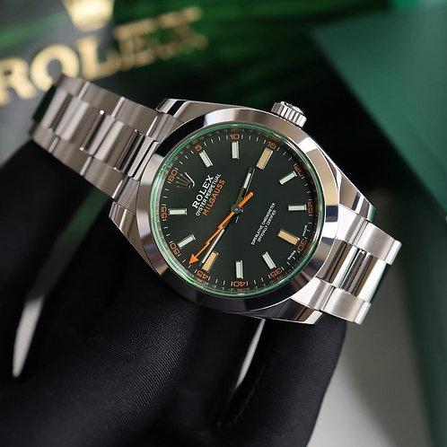 Unworn 2020 Gents Stainless Steel Rolex Oyster Perpetual Milgauss 116400GV