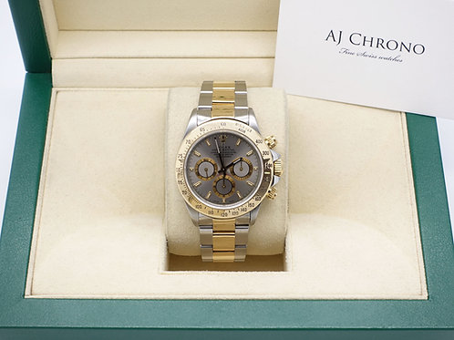 Gents Stainless Steel & 18ct Gold Rolex Cosmograph Daytona With Slate Grey Dial
